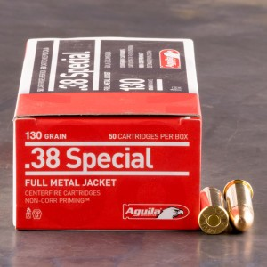1000rds - 38 Special Aguila 130gr. FMJ Ammo