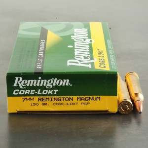 20rds - 7mm Rem Mag Express Core-Lokt 150gr. Pointed Soft Point Ammo