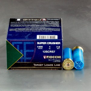 "25rds - 12ga Fiocchi SUPER CRUSHER 2 3/4"" 1oz. #7 1/2 Shot Target Ammo"