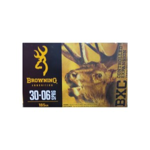 30-06 - 185 Grain Brass Tip Boat tail - Browning BXC - 20 Rounds