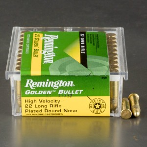 100rds - 22LR Remington Golden Bullet 40gr. Solid Point Ammo