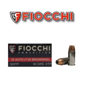 50rds - 32 Auto Fiocchi 60gr. XTP Hollow Point Ammo