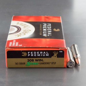 20rds - 308 Win. Federal Vital Shok 165gr. GameKing BTSP Ammo