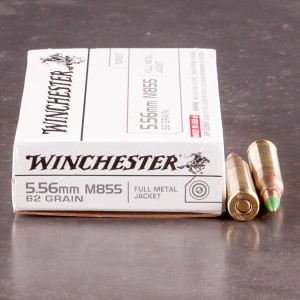 20rds - 5.56 Winchester M855 62gr. Penetrator Ammo