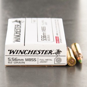 20rds - 5.56 Winchester M855 62gr. Penetrator Ammo