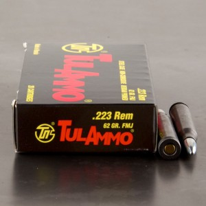 Tula 223 Rem 62 Grain FMJ - 1000 Rounds