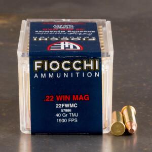 50rds - 22 Mag Fiocchi 40gr. TMJ Ammo
