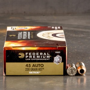1000rds - 45 ACP Federal Premium Law Enforcement HST 230gr. JHP Ammo