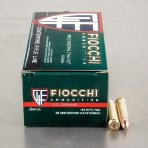 50rds – 30 Carbine Fiocchi Rifle Shooting Dynamics 110gr. FMJ Ammo