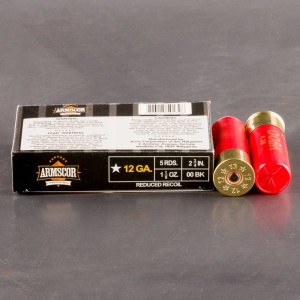 "250rds - 12 Gauge Armscor Precision Low Recoil 2-3/4"" 9-Pellet Buckshot Ammo"