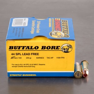 20rds - 44 Special Buffalo Bore 200gr. Barnes TAC-XP HP Ammo