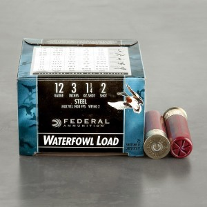 "25rds - 12 Ga. Federal Speed-Shok 3"" 1 1/4oz #2 Steel Shot Ammo"