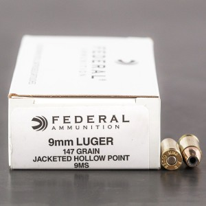1000rds - 9mm Federal LE Hi-Shok 147gr. Hollow Point Ammo