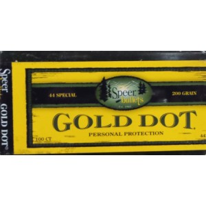"100pcs - 44 Cal .429"" Dia Speer Gold Dot 200gr. Bonded HP Bullets"