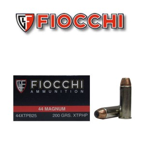 25rds - 44 Mag Fiocchi 200gr XTP Jacketed Hollow Point Ammo