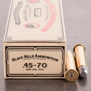 20rds - 45-70 Govt. Black Hills 405gr. Flat Point Lead Ammo