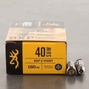 20rds - 40 S&W Browning BXP X-Point 180 Grain JHP Ammo