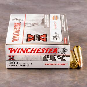 20rds - 303 British Winchester 180gr Super-X Power Point Ammo