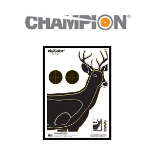 1 - Champion VisiColor Deer Target 10 Pack