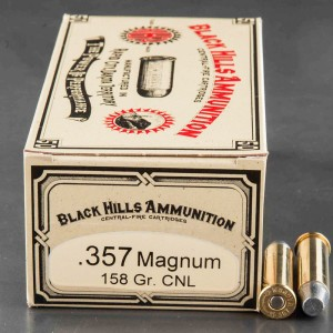50rds - 357 Magnum Black Hills Cowboy Load 158gr. CNL Ammo