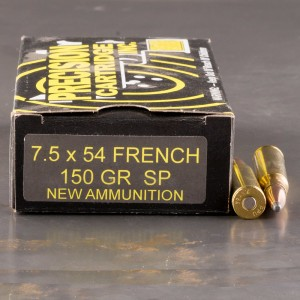 20rds - 7.5x54 French MAS PCI Ammo 150gr. SP Ammo