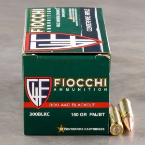 50rds - 300 AAC BLACKOUT Fiocchi 150gr. FMJBT Ammo
