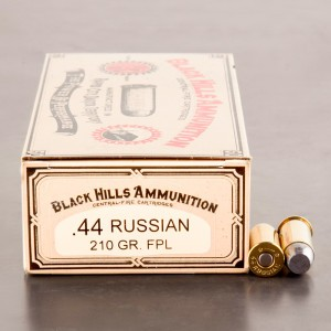 50rds - 44 S&W Russian Black Hills Cowboy Action Load 210gr. FPL Ammo