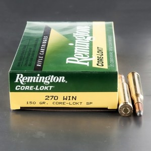 20rds - 270 Win Remington 150gr. Core-Lokt Soft Point Ammo