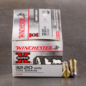 50rds - 32-20 Winchester 100gr. Lead RNFP Ammo