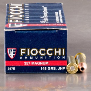 1000rds – 357 Magnum Fiocchi Pistol Shooting Dynamics 148gr. JHP Ammo