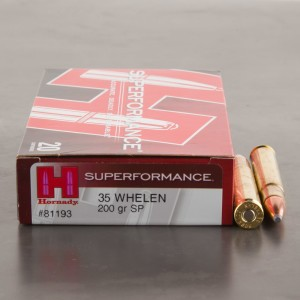 20rds - 35 Whelen Hornady Superformance 200gr. Soft Point Ammo