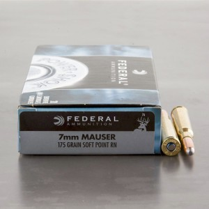 20rds - 7mm Mauser Federal Power-Shok 175gr. Soft Point RN Ammo