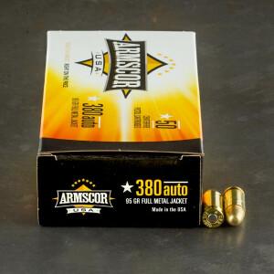 1000rds – 380 Auto Armscor USA 95gr. FMJ Ammo