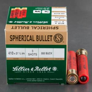 """25rds - .410 Gauge Sellier & Bellot 2 1/2"""" 000 Buckshot Ammo"""