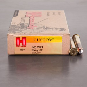 20rds - 405 Win. Hornady 300gr. Spire Point Ammo