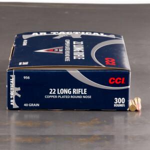 300rds - 22LR CCI AR Tactical 40gr. CPRN Bulk Pack Ammo