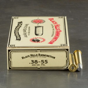 20rds - 38-55 Win Black Hills 255gr. Flat Nose Lead Ammo