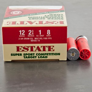 "25rds - 12 Gauge Estate Super Sport Competition Target 2-3/4"" 1 oz. #8 Shot Ammo"