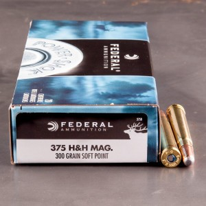 20rds - 375 H&H Mag Federal Power-Shok 300gr. Soft Point Ammo