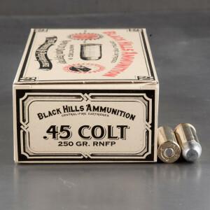50rds - 45 Long Colt Black Hills 250gr. RNFP Ammo