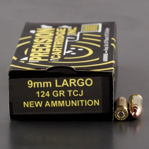 50 Rounds - 9mm Largo PCI 124 Grain TCJ-RN Ammo