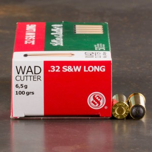 50rds - 32 S&W Long Sellier & Bellot 100gr. Lead Wadcutter Ammo