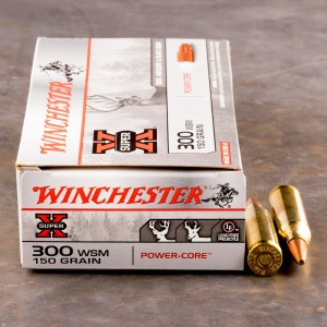 20rds - 300 WSM Winchester Super-X 150gr. Power-Core PHP Lead Free Ammo