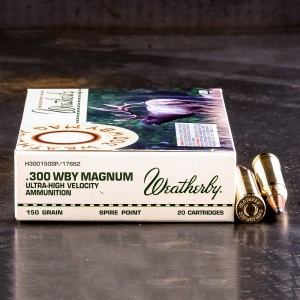 20rds - 300 Weatherby Mag. 150gr. Spire Point Ammo