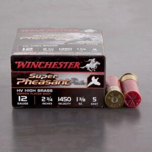 "25rds – 12 Gauge Winchester Super Pheasant 2-3/4"" 1-3/8 oz. #5 Shot Ammo"