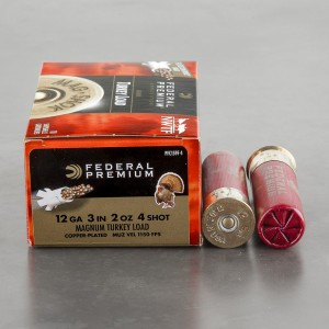 "10rds - 12 Gauge Federal Mag-Shok 3"" 2oz. #4 Turkey Load"