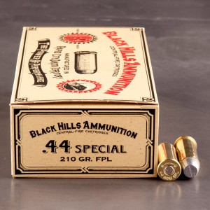 50rds - 44 Special Black Hills 210gr. Lead Flat Point Ammo