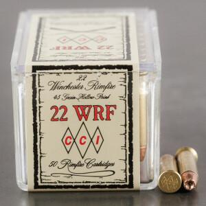 50rds - 22 WRF CCI 45gr. Hollow Point Ammo