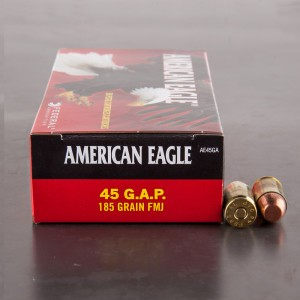 50rds - 45 GAP Federal American Eagle 185gr. FMJ Ammo