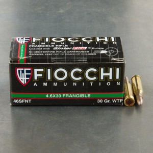 50rds - 4.6x30 HK Fiocchi 30gr. Frangible Ammo